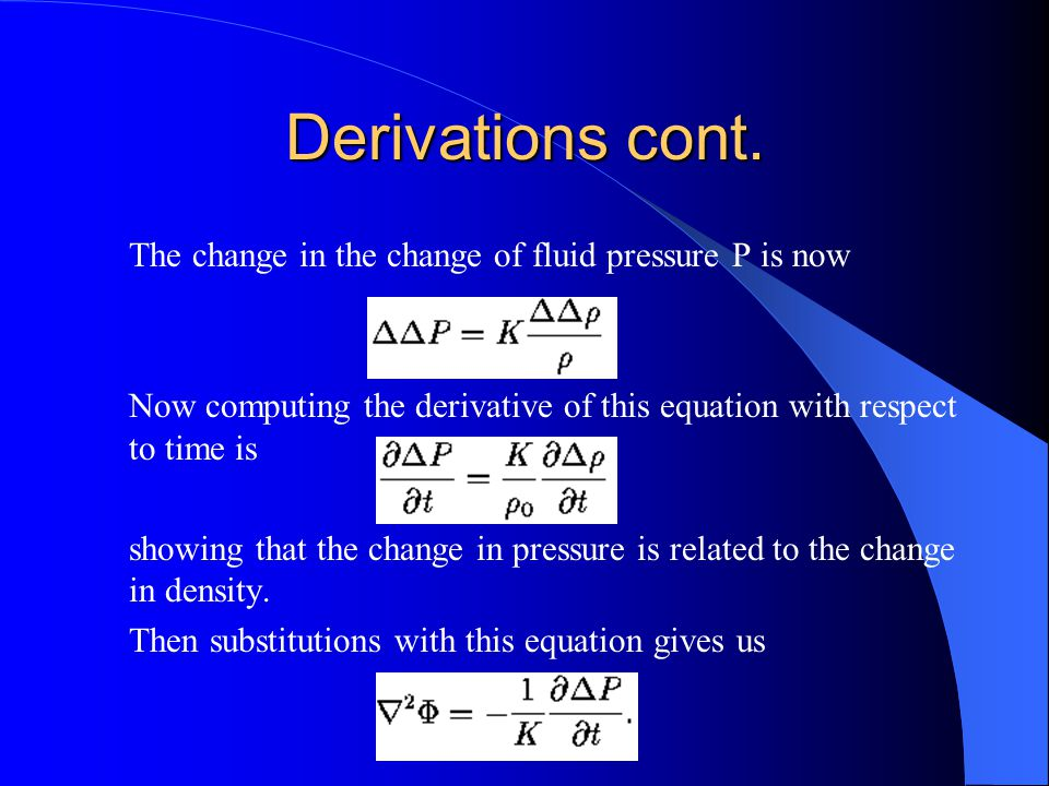 Derivations cont.