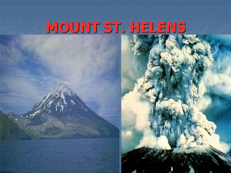 VOLCANIC MOUNTAINS The other type of eruption is an EXPLOSIVE eruption. The other type of eruption is an EXPLOSIVE eruption. An explosive eruption dea