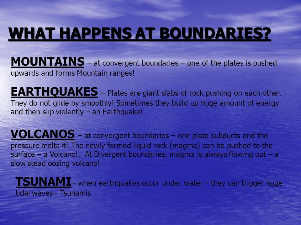 WHAT HAPPENS AT BOUNDARIES.