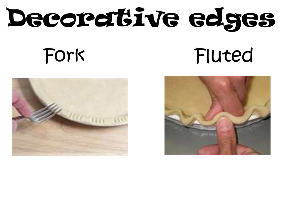 Decorative edges Fork Fluted