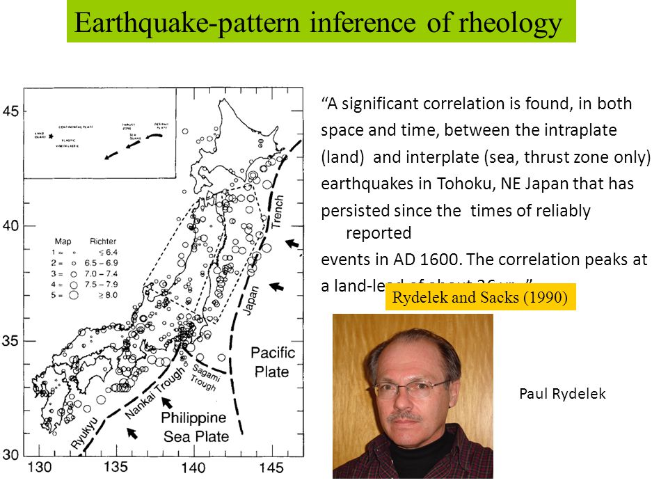 """A significant correlation is found, in both space and time, between the intraplate (land) and interplate (sea, thrust zone only) earthquakes in Tohok"