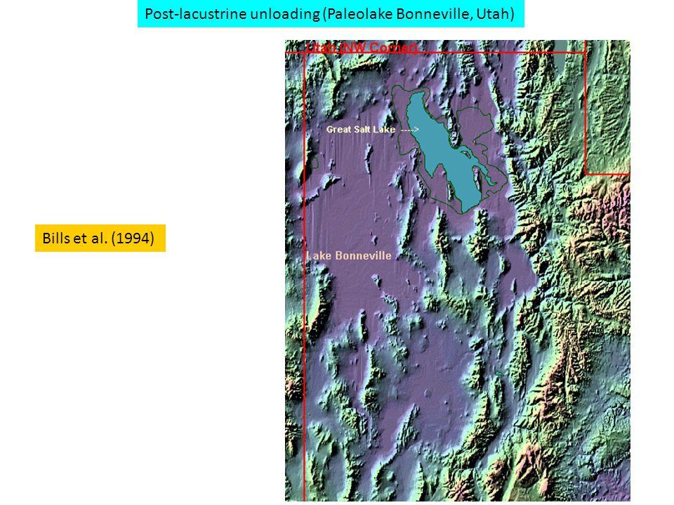 Bills et al. (1994) Post-lacustrine unloading (Paleolake Bonneville, Utah)