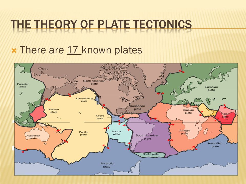  There are 17 known plates