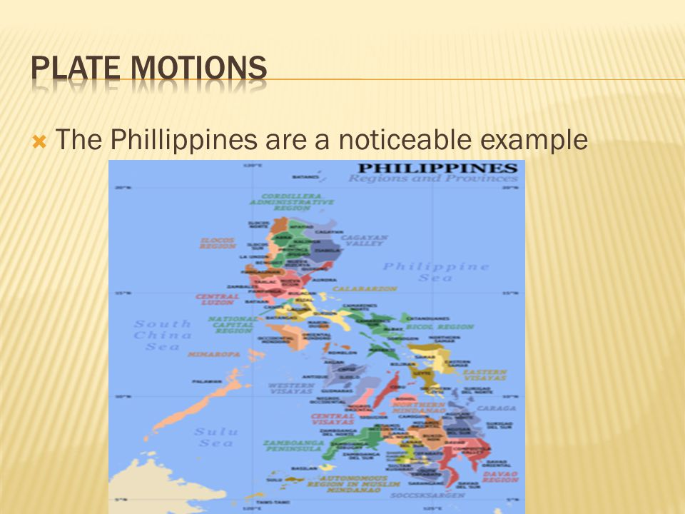  The Phillippines are a noticeable example