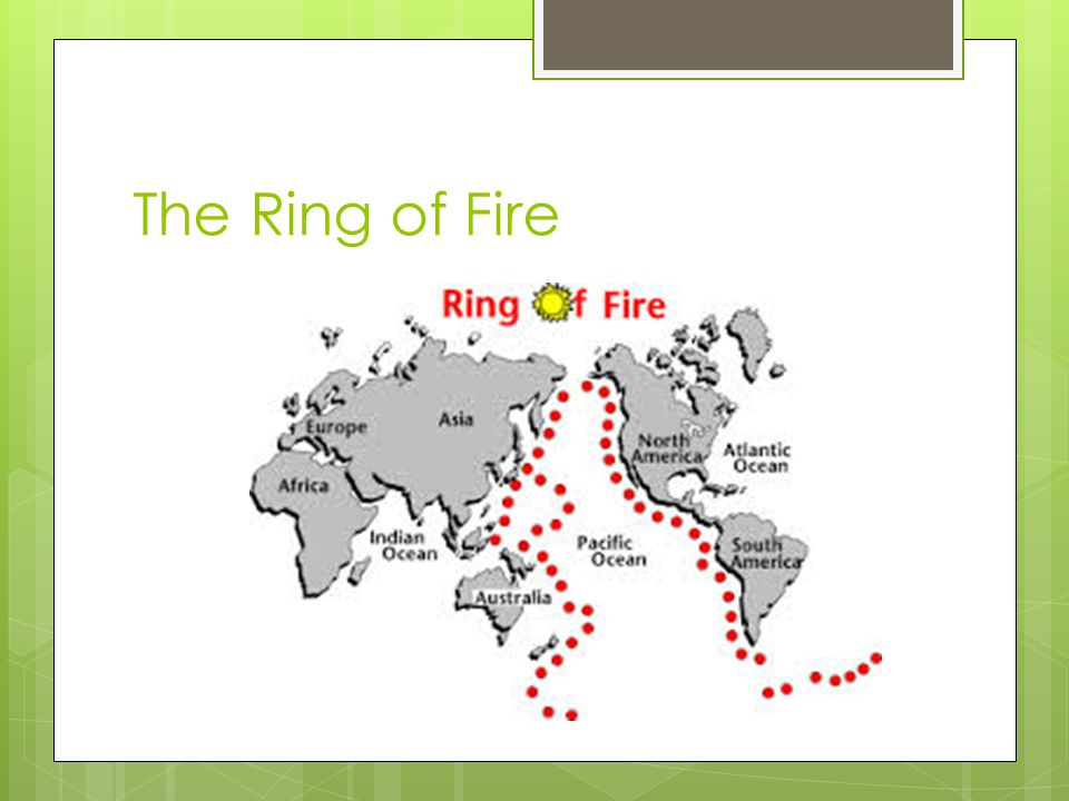  C. Where do volcanoes form?  1. Most volcanoes occur on or along plate boundaries.  2. The Ring of Fire is the area of earthquake and volcanic act