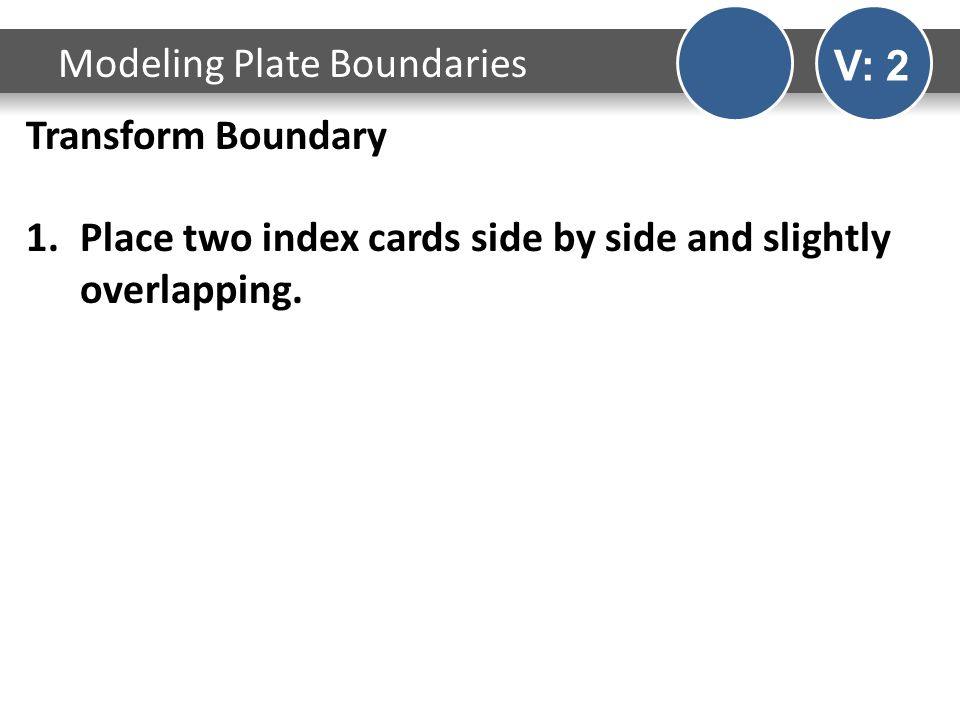 Transform Boundary 1.Place two index cards side by side and slightly overlapping.