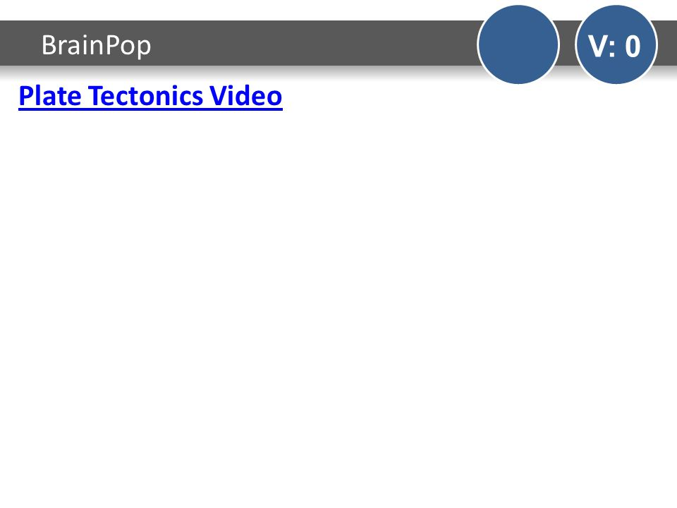 Plate Tectonics Video BrainPop V: 0