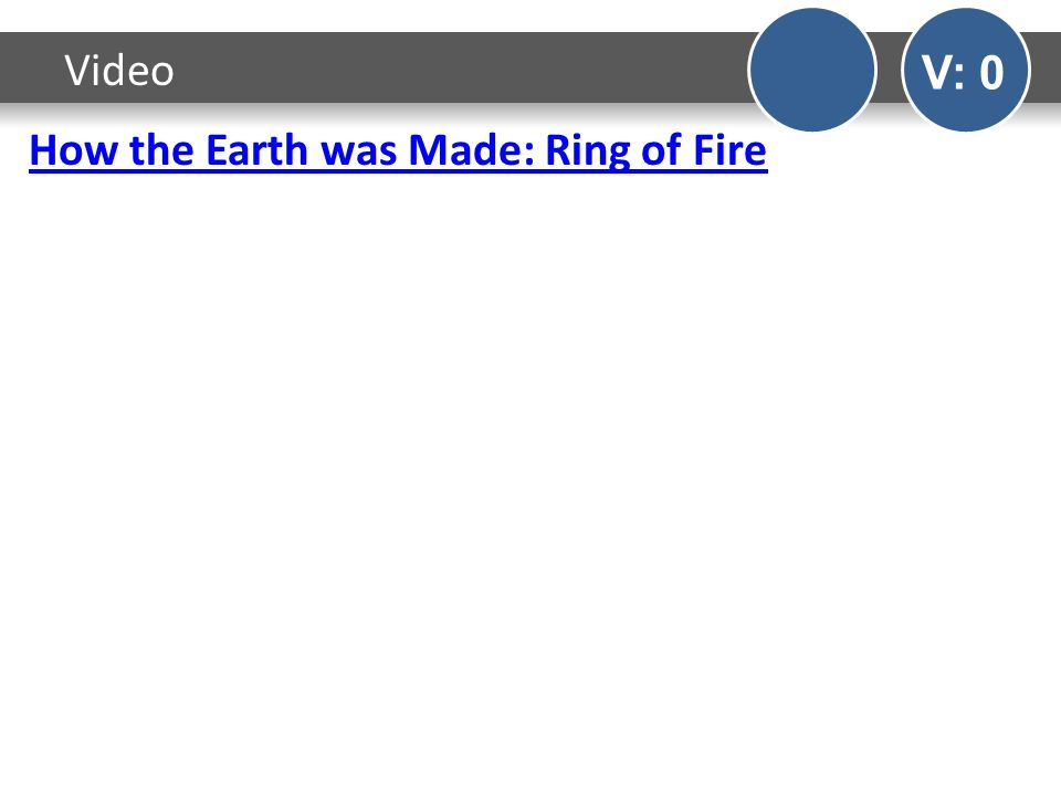 How the Earth was Made: Ring of Fire Video V: 0