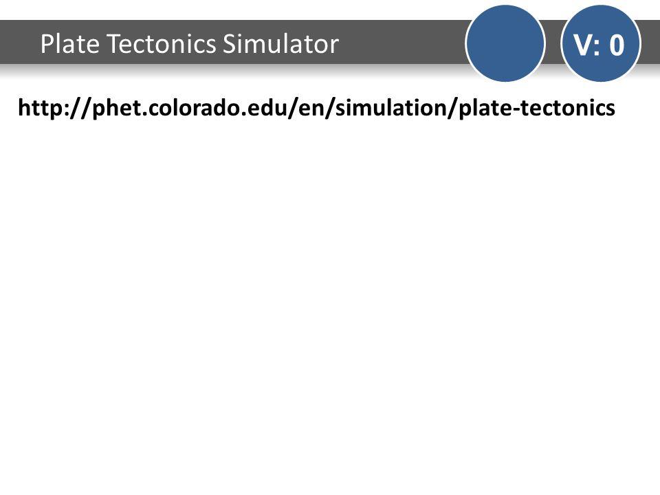 http://phet.colorado.edu/en/simulation/plate-tectonics Plate Tectonics Simulator V: 0