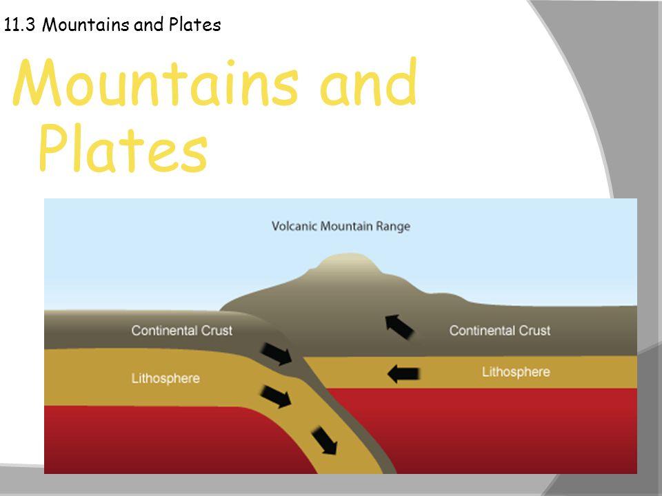 11.3 Mountains and Plates Mountains and Plates