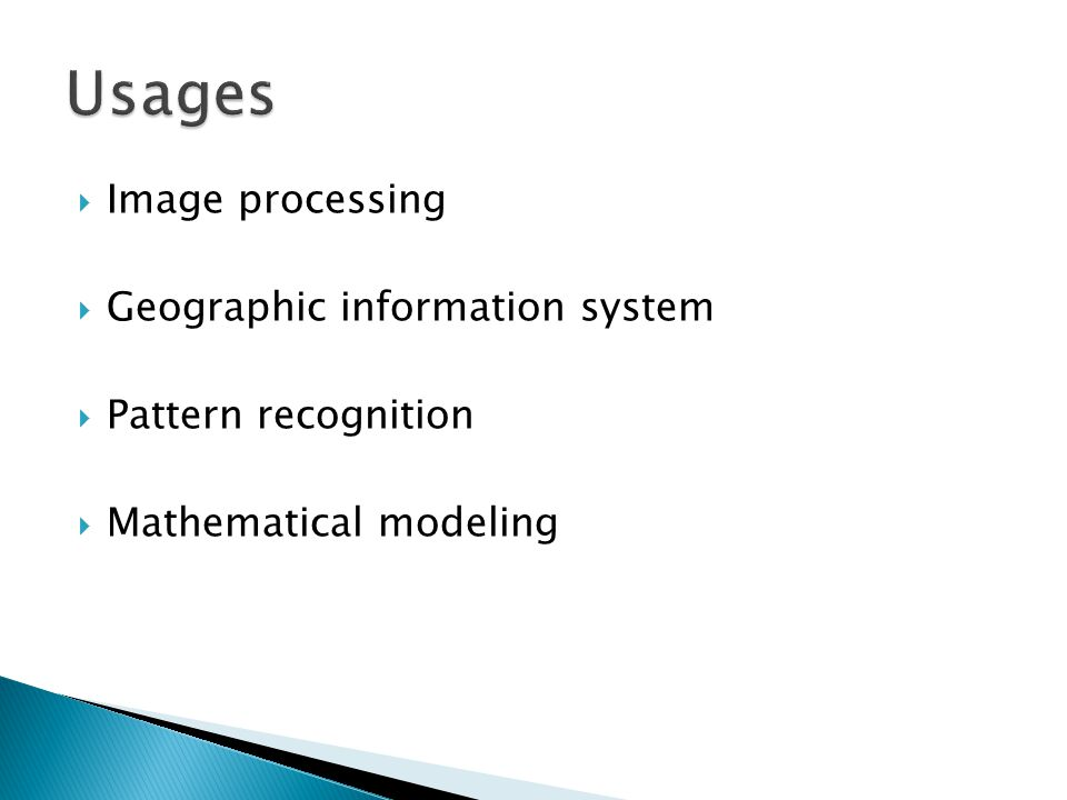  Image processing  Geographic information system  Pattern recognition  Mathematical modeling