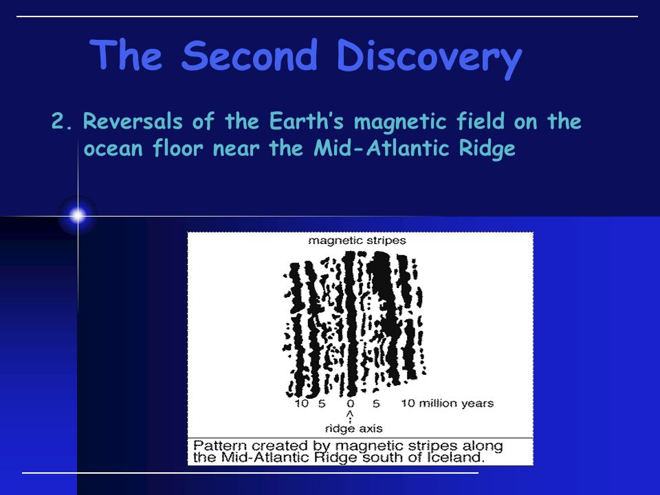 2. Reversals of the Earth's magnetic field on the ocean floor near the Mid-Atlantic Ridge The Second Discovery