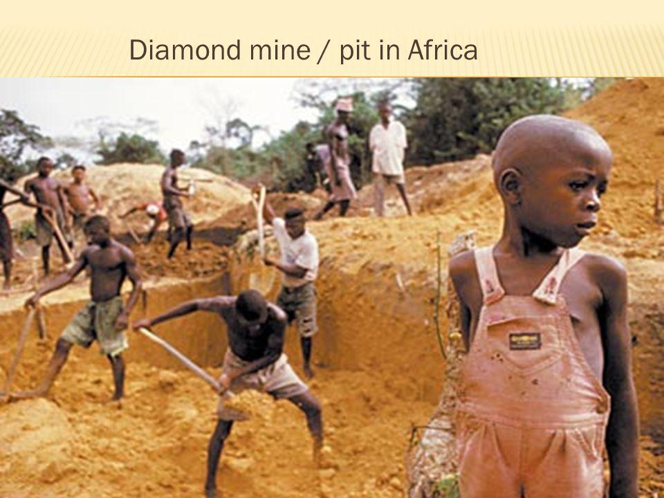 Diamond mine / pit in Africa