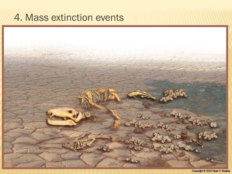 4. Mass extinction events Copyright © 2010 Ryan P. Murphy