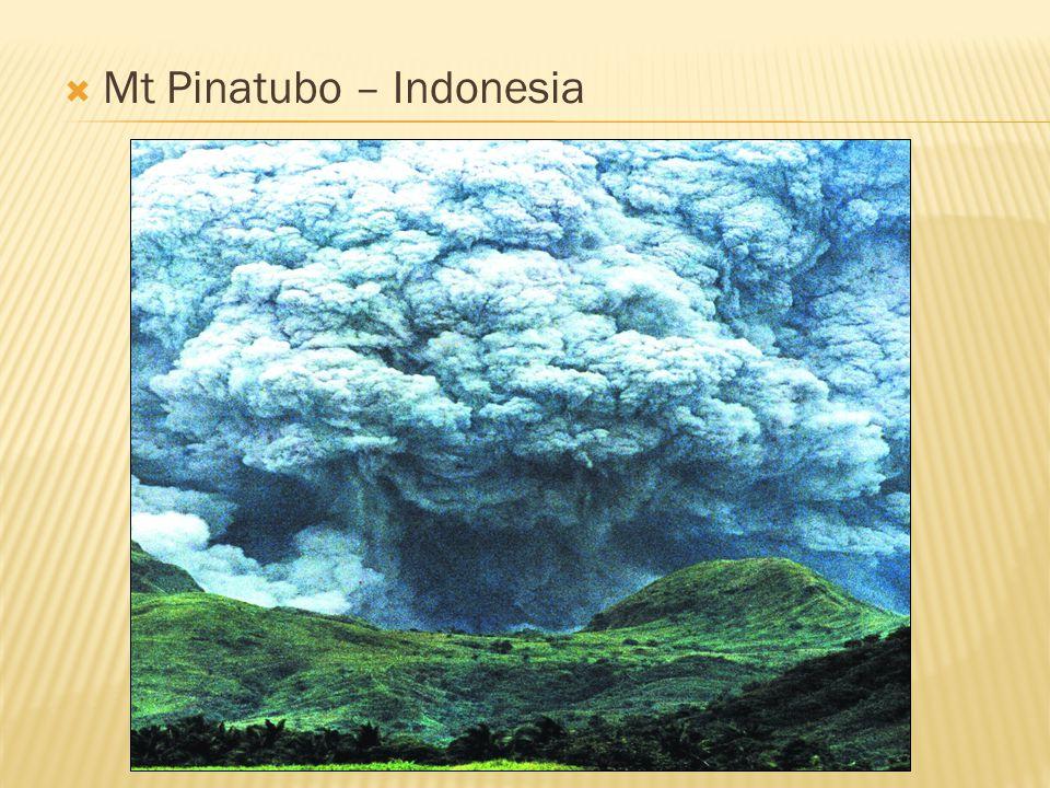  Mt Pinatubo – Indonesia
