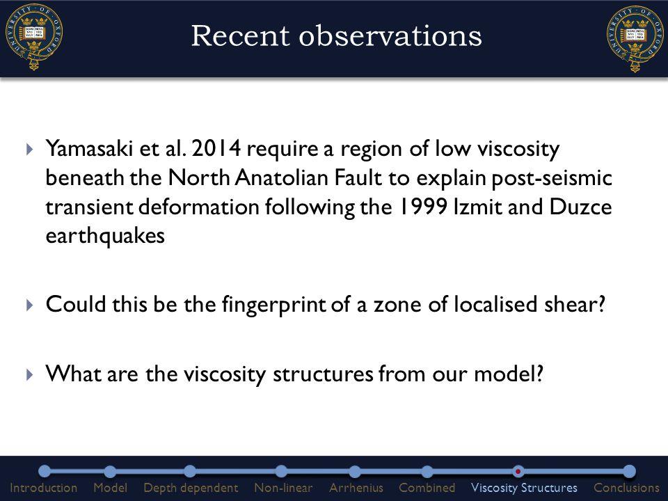 Recent observations  Yamasaki et al.