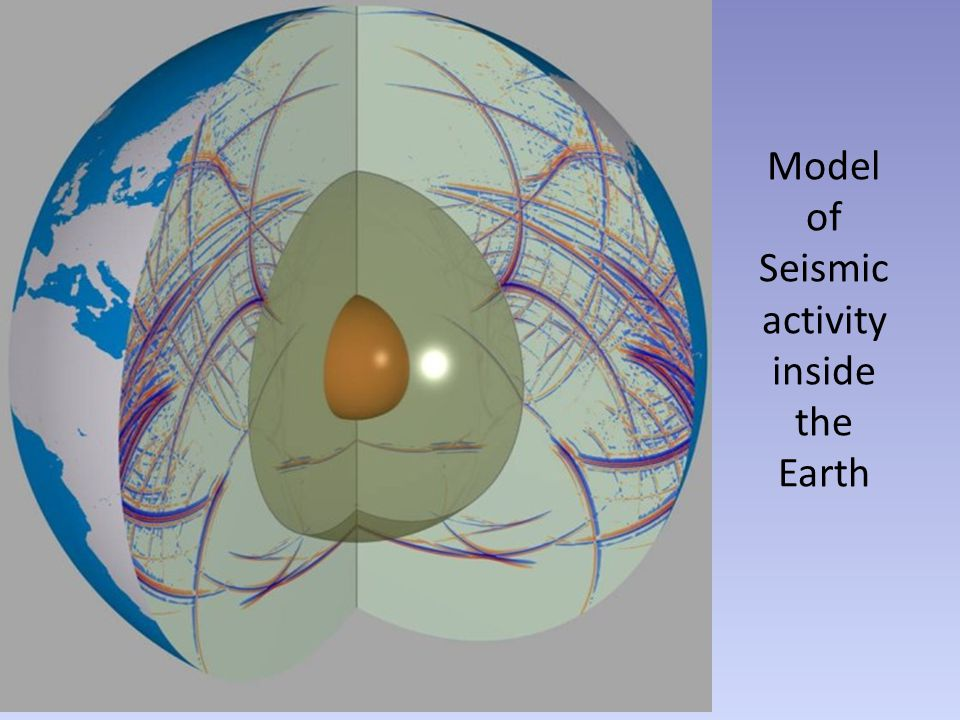 Model of Seismic activity inside the Earth