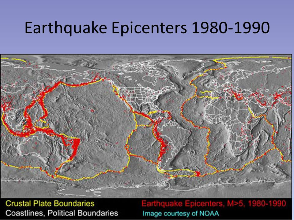 Earthquake Epicenters 1980-1990