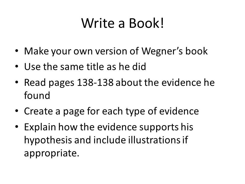 Write a Book.