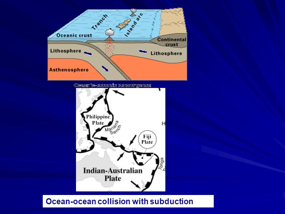 Ocean-ocean collision with subduction