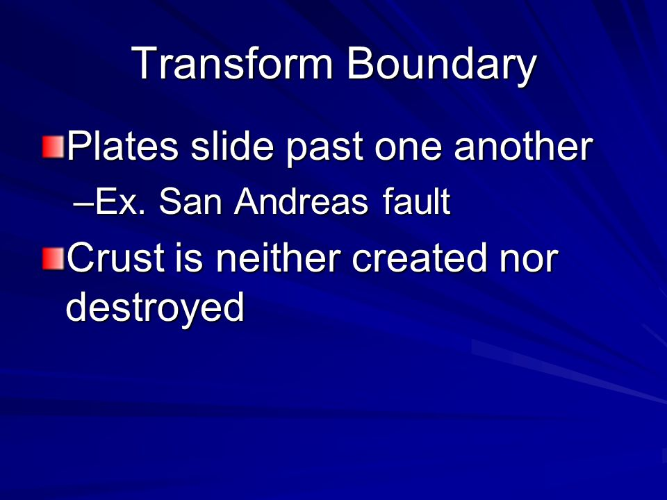 1963 Tuzo Wilson Developed the hypothesis of hot spots to explain islands like Hawaii & a third kind of plate boundary called a transform plate bounda
