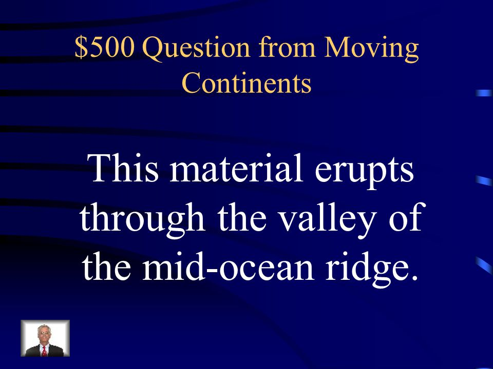 $400 Answer from Moving Continents What is rock layers in South America and Africa match
