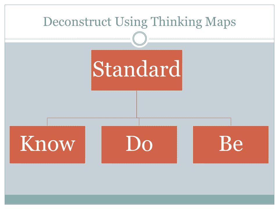 Deconstruct Using Thinking Maps Standard KnowDoBe