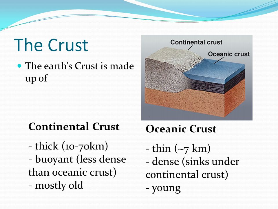 Plates The Earth's crust is divided into 12 major plates which are moved in various directions.