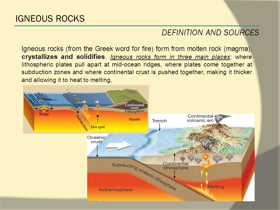 SUMMARY IGNEOUS ROCKS