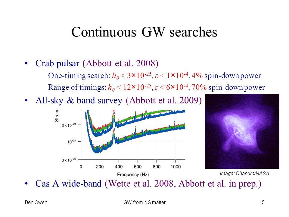Continuous GW searches Crab pulsar (Abbott et al.