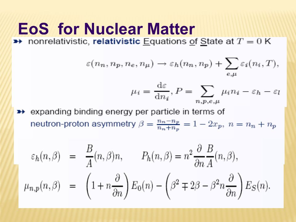 EoS for Nuclear Matter