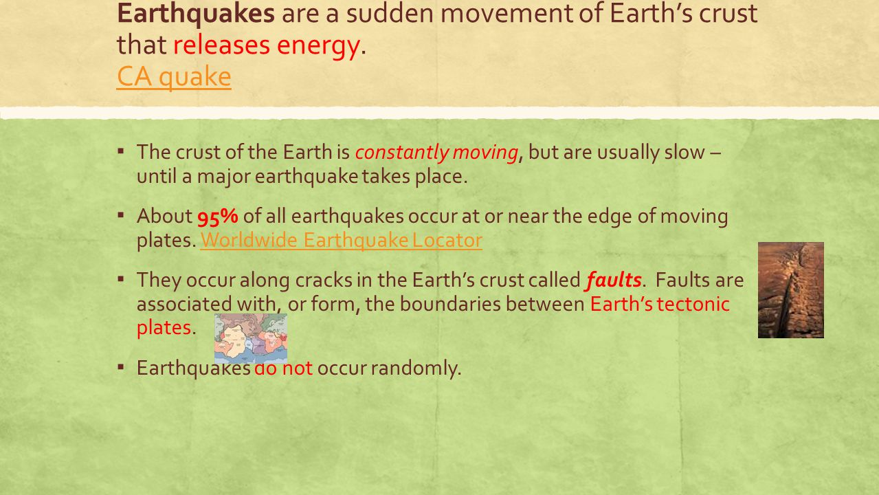 How do earthquakes workHow do earthquakes work ?