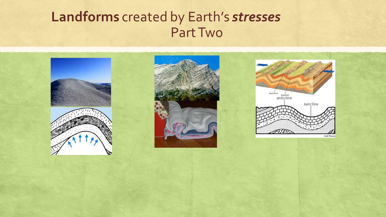 Landforms created by Earth's stresses Part Two