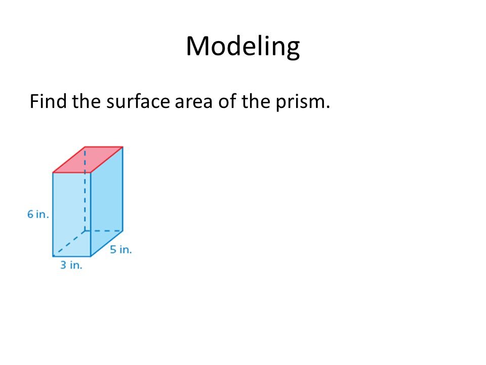 Practice Find the surface areas of the rectangular prisms