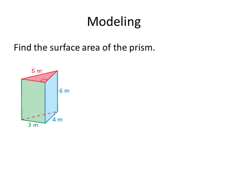 Modeling Find the surface area of the prism.