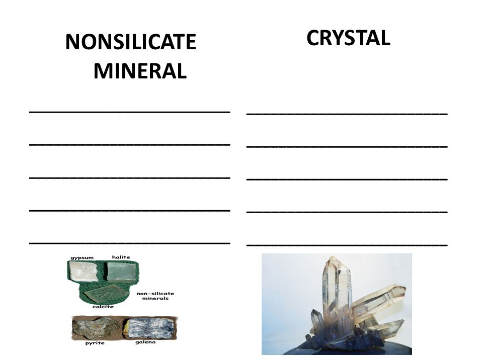 NONSILICATE MINERAL _________________________ CRYSTAL _________________________