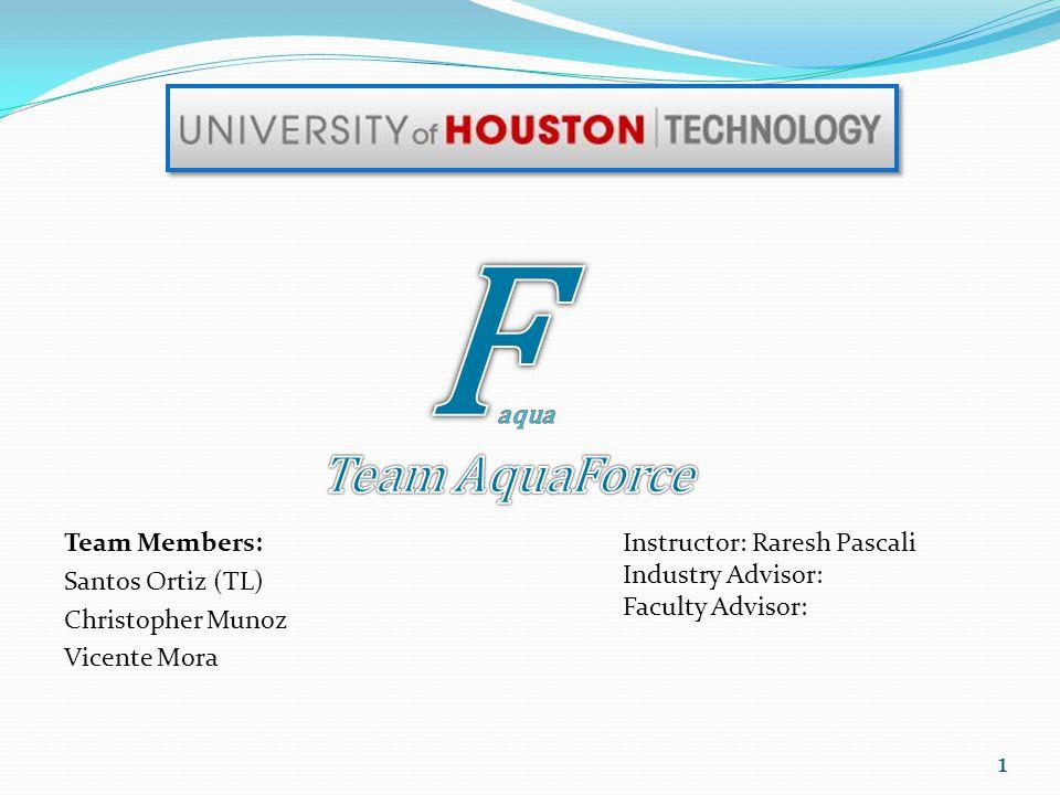 Team Members: Santos Ortiz (TL) Christopher Munoz Vicente Mora Instructor: Raresh Pascali Industry Advisor: Faculty Advisor: 1