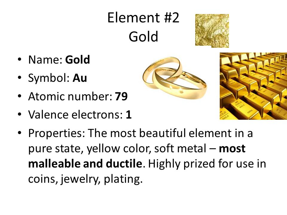 Periodic table of the elements steve gerkey source los alamos element 2 gold name gold symbol au atomic number 79 valence electrons urtaz Gallery
