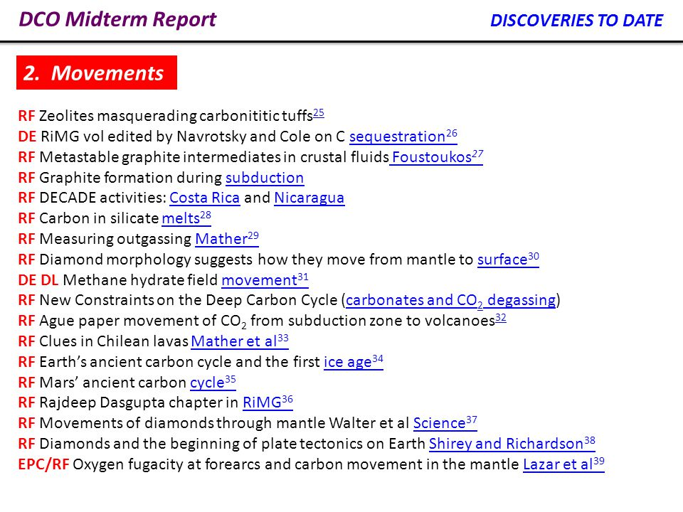 DCO Midterm Report A significant achievement is the discovery of the doubling of known volcanic CO 2 emissions.