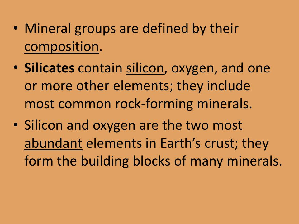 the two major groups of minerals The feldspars are divided into two main groups: potassium feldspar this white feldspar shows two cleavages go back to common minerals page.
