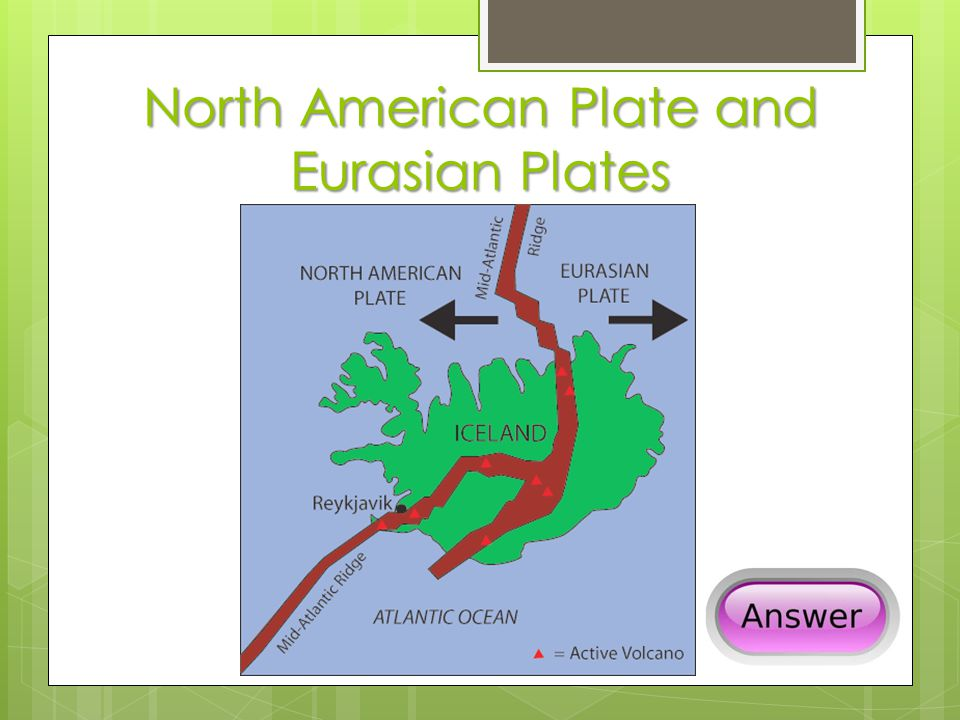 North American Plate and Eurasian Plates