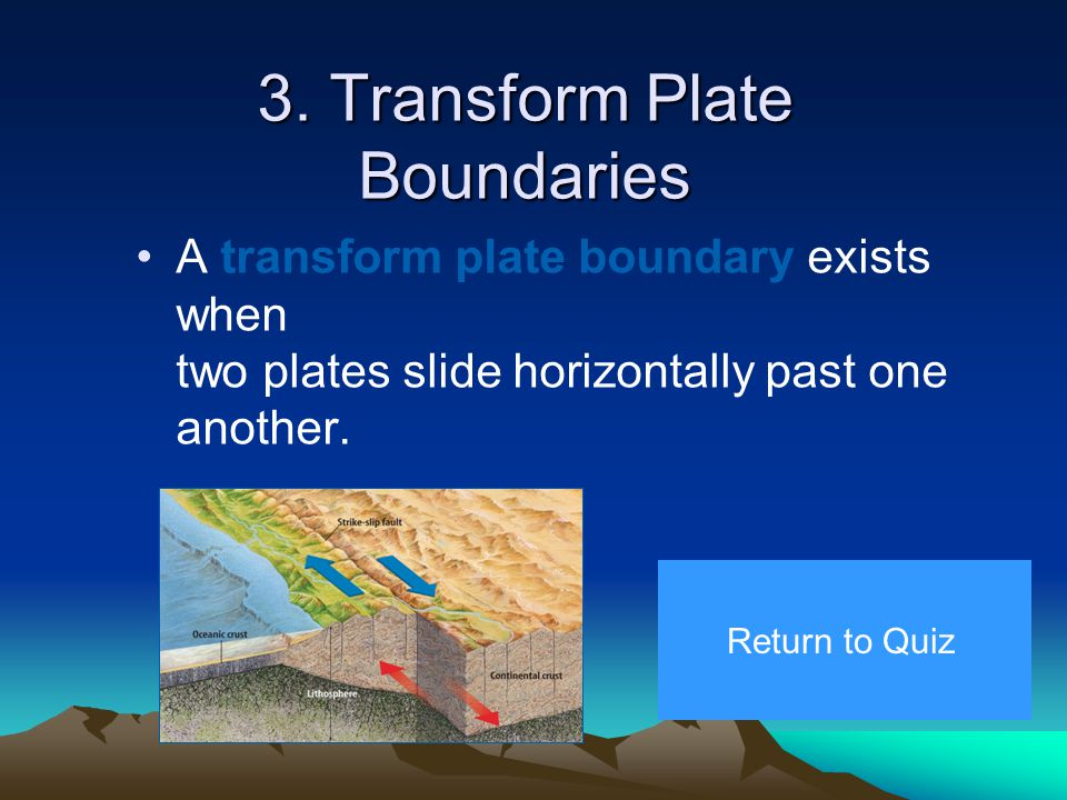2. Convergent Plate Boundaries form when two lithospheric plates move toward each other.