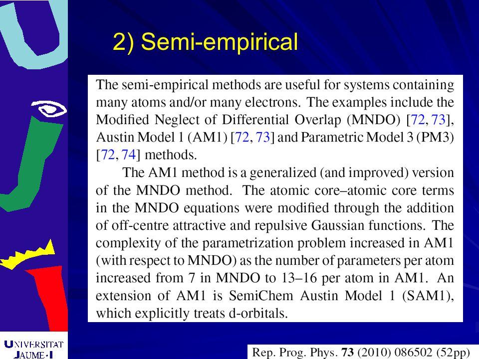 2) Semi-empirical