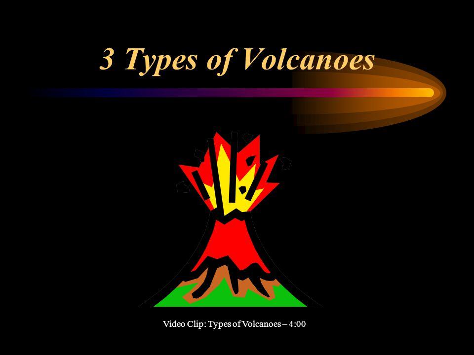 3 Types of Volcanoes Video Clip: Types of Volcanoes – 4:00