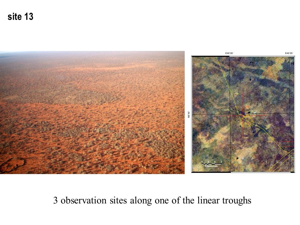 site 13 3 observation sites along one of the linear troughs