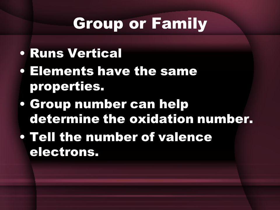 Group or Family Runs Vertical Elements have the same properties.