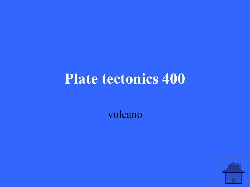 Plate tectonics 400 volcano