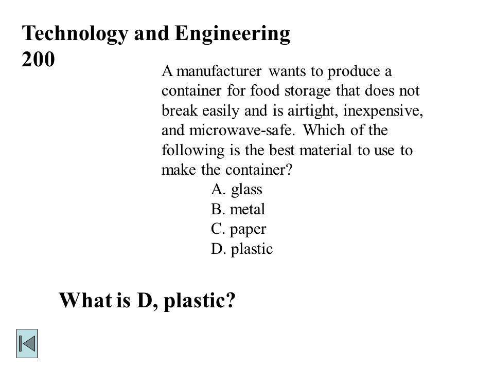Technology and Engineering 100 What is A, assembling.