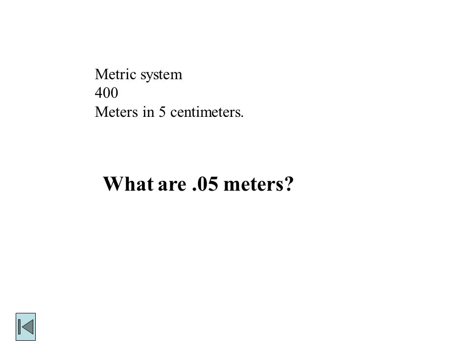 Metric system 300 Another name for one millionth of a second.