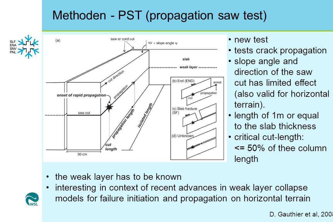 Methoden - PST (propagation saw test) D.